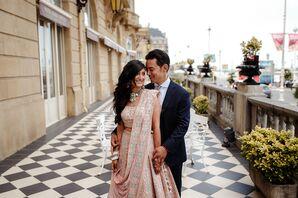 Couple Portraits at Multicultural Wedding in San Sebastian, Spain
