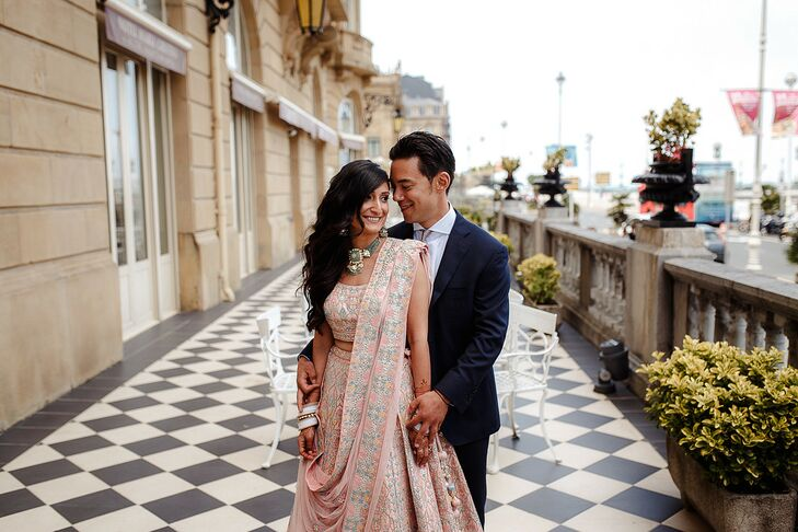Couple Portraits at Multicultural Wedding in San Sebastian, Spain