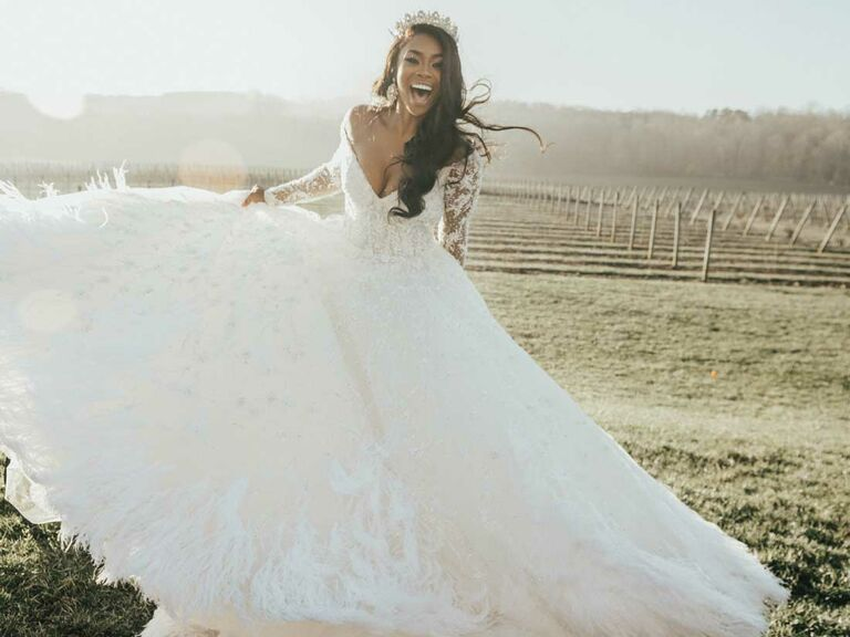 Bride in ballgown with tiara