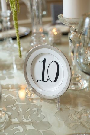 Vintage China Table Numbers