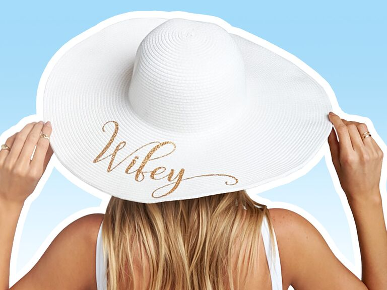 84d5f58c 21 Floppy Sun Hats With Witty Phrases for Your Bachelorette Party or  Honeymoon