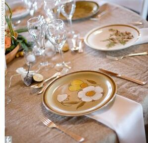 Vintage Stoneware Place Settings