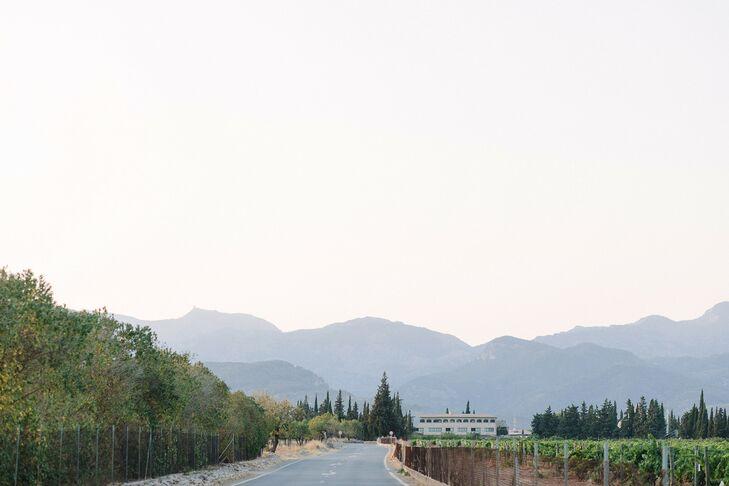 Mountains Surrounding Finca Es Cabas in Mallorca, Spain