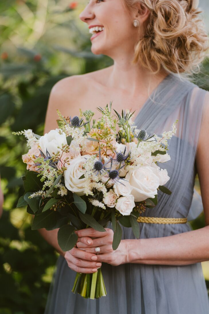 Thistle and Rose Bridesmaid Bouquet