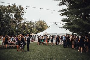 Tented Reception at Minnetonka Orchards