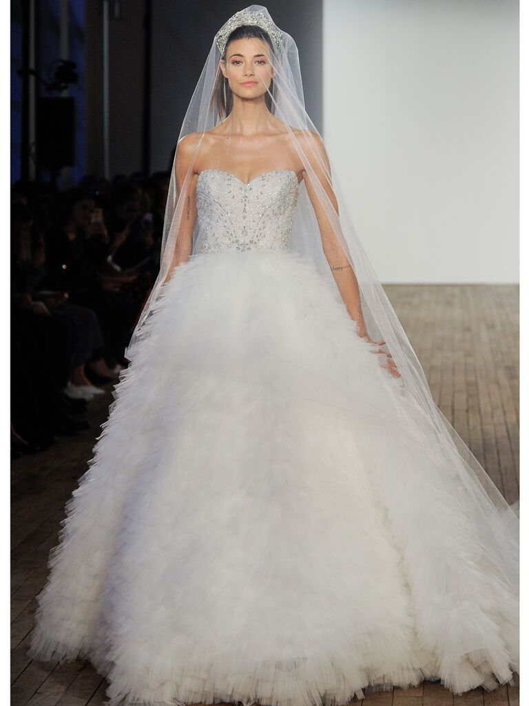 Lazaro tulle wedding gown