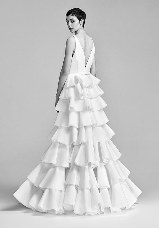 Viktor Rolf Mariage Layered Couture Volant Tulle Dream Wedding Dress - The  Knot c1467d1483a