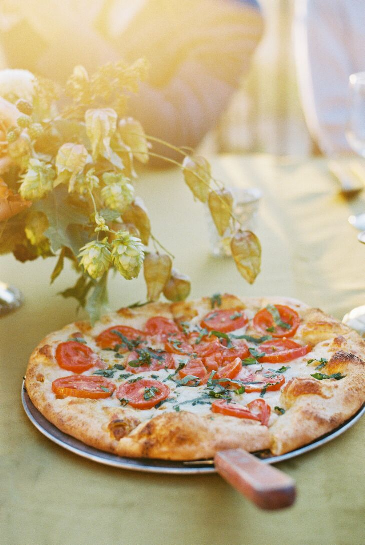 Pizza for Wedding Reception at Cordiano Winery in Escondido, California