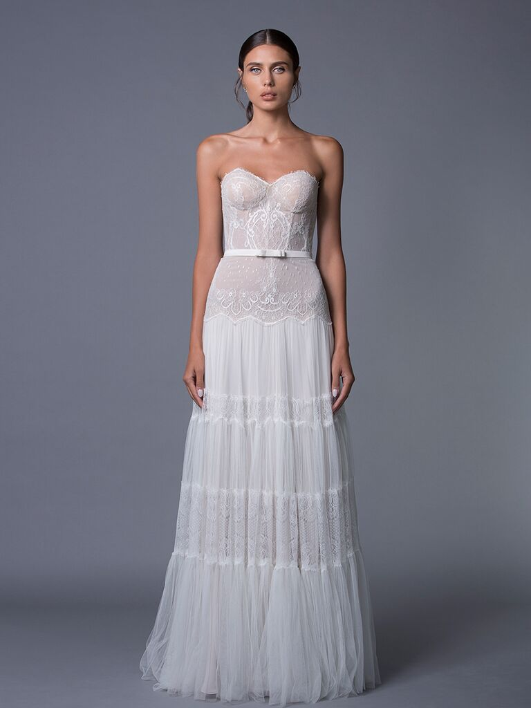 Lihi Hod 'Jane' wedding dress with fitted corset style bodice for Fall 2017