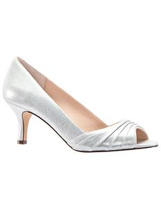 Nina Bridal Chezare_True Silver-Reflective Suedette Black, Blue, Ivory, Pink, Red Shoe