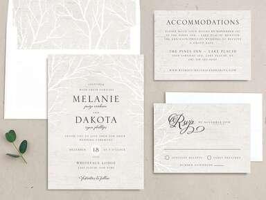 Winter wedding invitation set