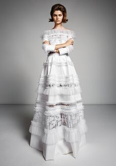 Viktor&Rolf Mariage LACE GRAPHIC PATCHWORK GOWN A-Line Wedding Dress