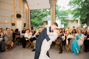 Couple Kisses During First Dance