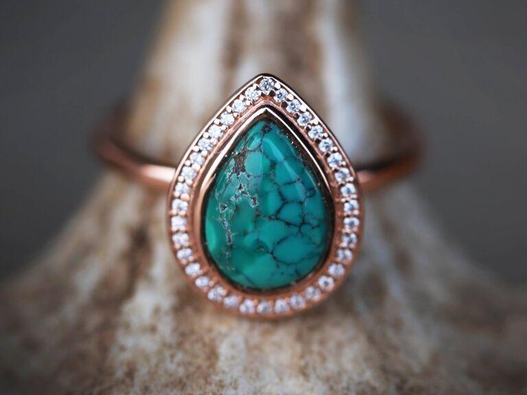 elegant turquoise engagement ring