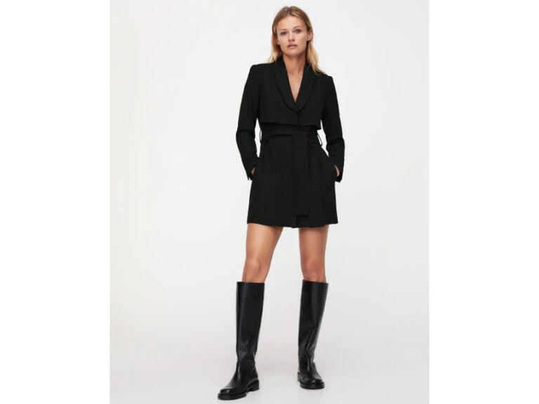 Black blazer-inspired dress