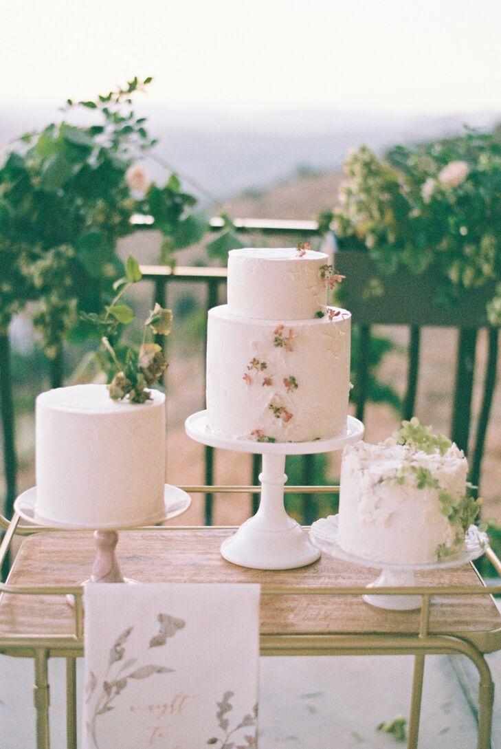 Trio of Wedding Cakes at Cordiano Winery in Escondido, California