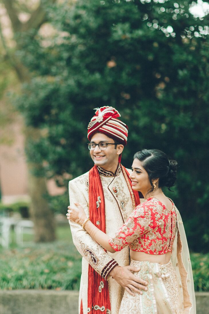 Couple in Traditional Indian Wedding Attire