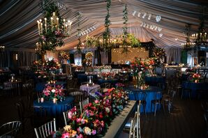 Moody, Flower-Filled Reception Tent