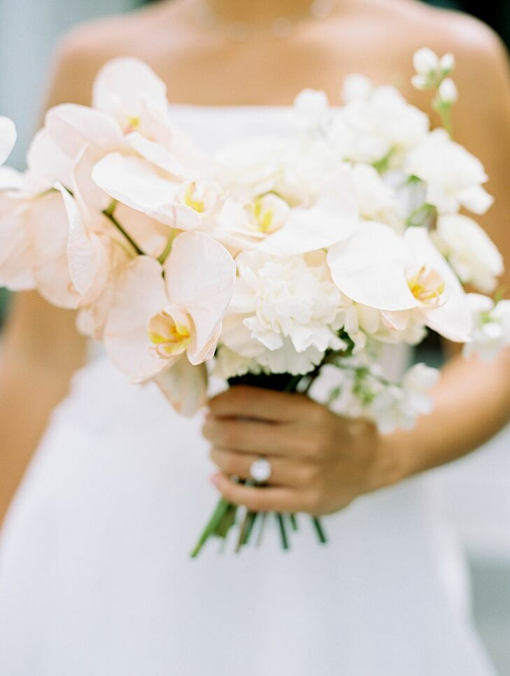 Elegant and Formal White Orchid Bouquet