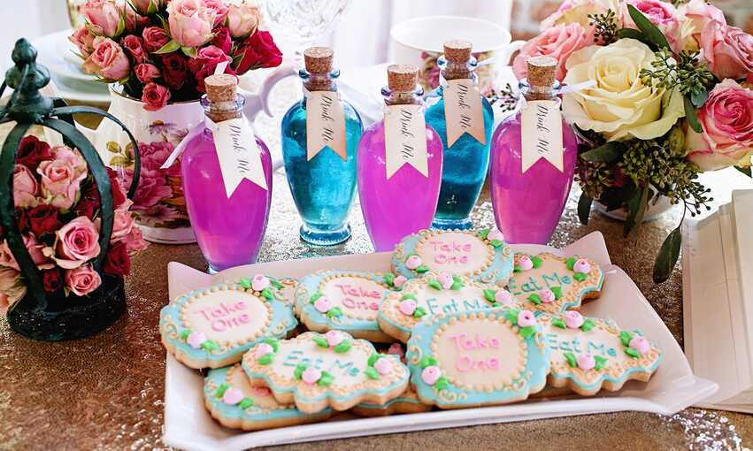 Alice in Wonderland party themed inspiration and ideas