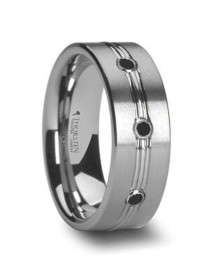 Mens Tungsten Wedding Bands W762-TBDT Tungsten Wedding Ring