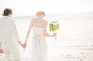 Bohemian Beach Wedding Soft Bridal Updo