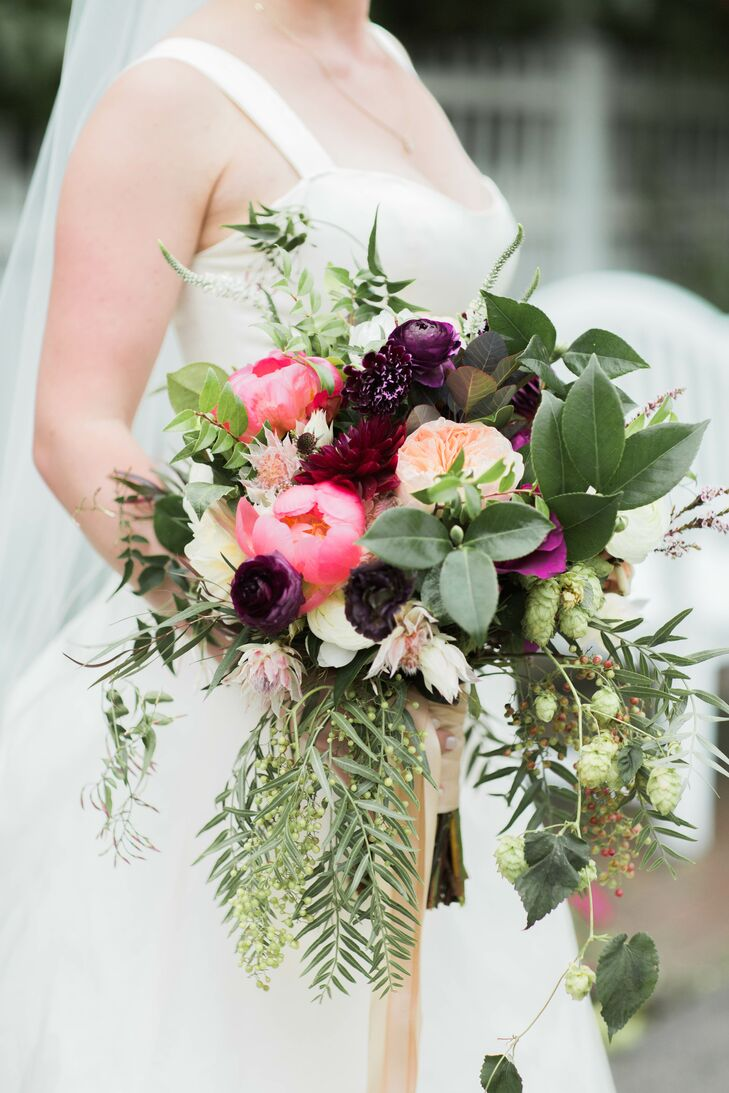 Bouquet with Peonies and Ferns
