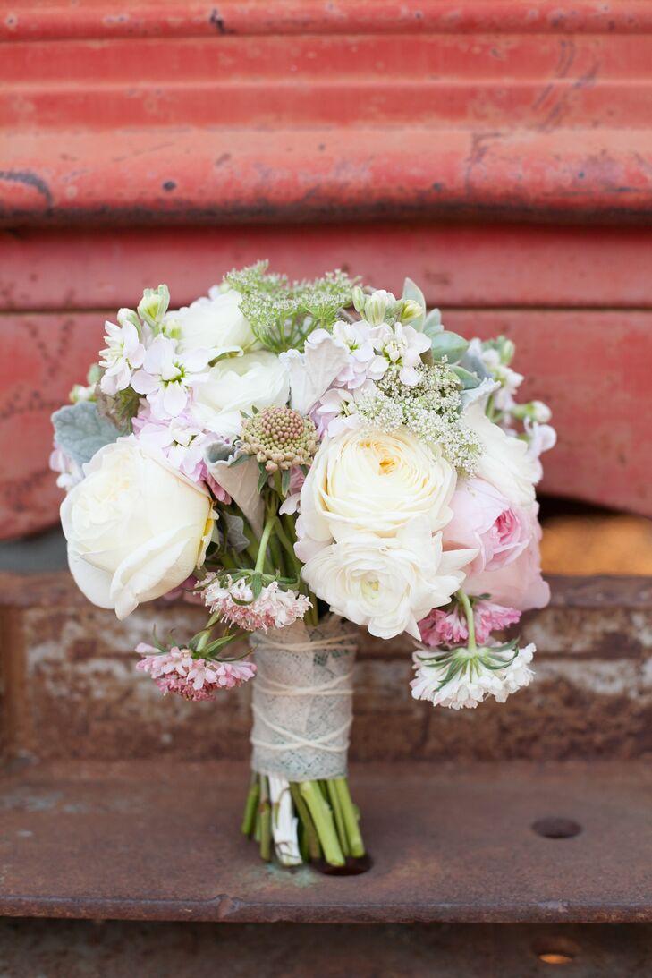Romantic Rose, Scabiosa and Stock Bouquet