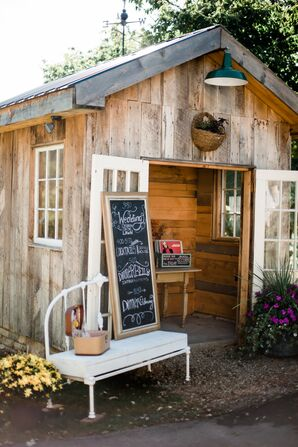 Rustic Decor and Chalkboard Sign