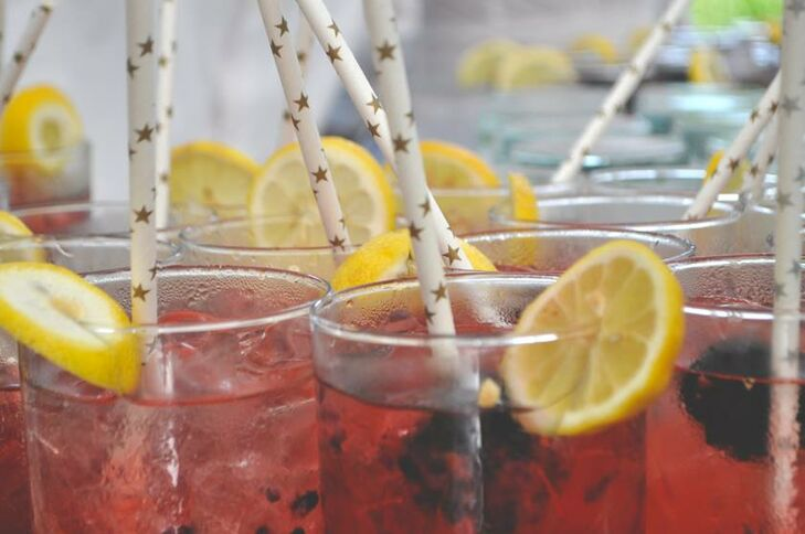 """""""Our signature drink was a bramble, which is a gin-based cocktail with fresh blackberries,"""" Karen says. """"We chose a selection of Italian wines in a nod to Peter's family heritage, toasting with a prosecco instead of the usual champagne."""""""