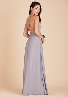 Birdy Grey Moni Convertible Dress in Silver Halter Bridesmaid Dress