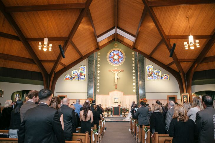 The ceremony was held at St. Andrew Church in Newtown, Pennsylvania, which is Amanda's parish.