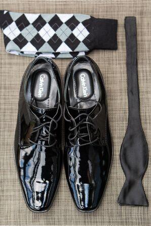 Black Patent Calvin Klein Men's Shoes