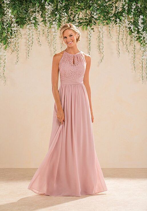B2 Bridesmaids by Jasmine B183016 Halter Bridesmaid Dress