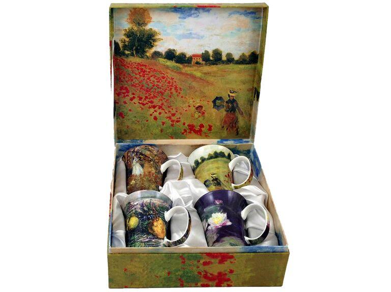 Monet bone china mug set 20th anniversary gift
