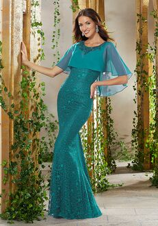 MGNY 71928 Blue Mother Of The Bride Dress