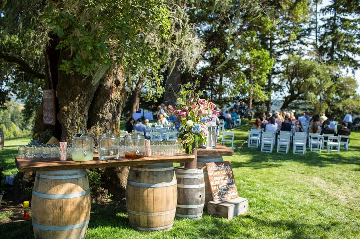 Rustic Ceremony Refreshment Table