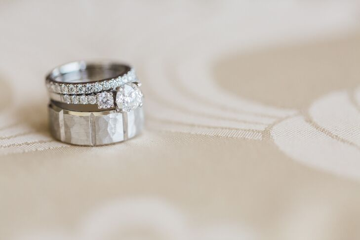 Bold, Textured Silver Wedding Ring
