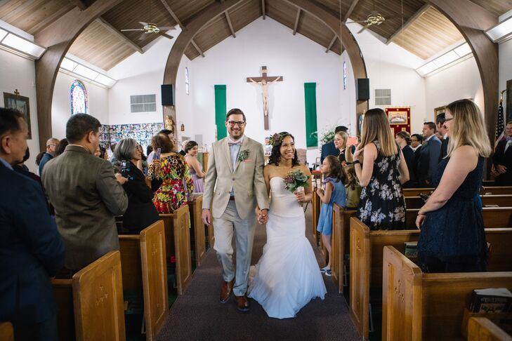 Rustic Recessional at Catholic Church