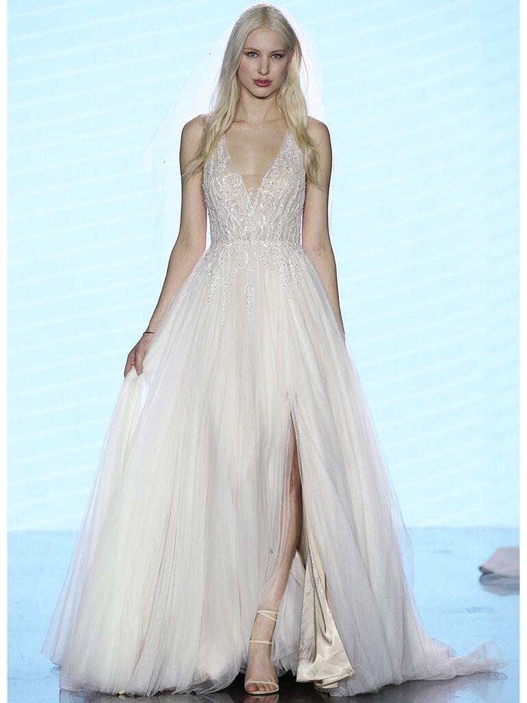 Watters wedding dress tulle a-line