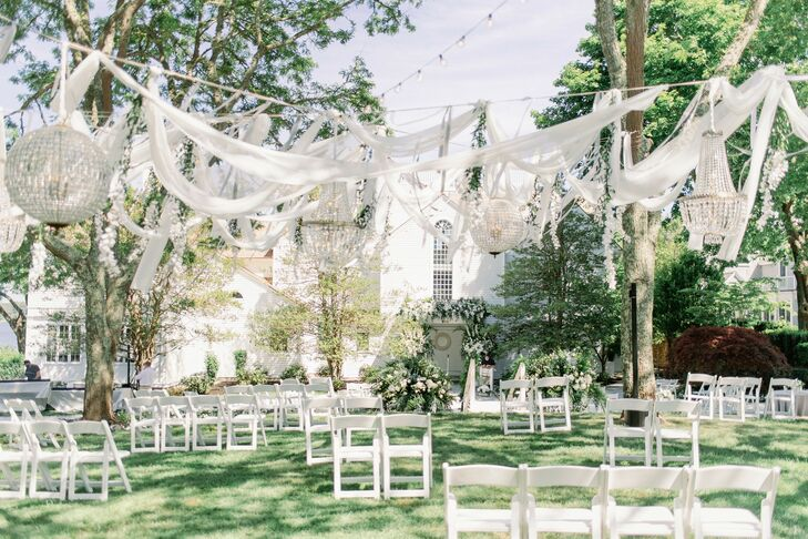 Socially-Distanced Outdoor Wedding Ceremony in Cape Cod, Massachusetts