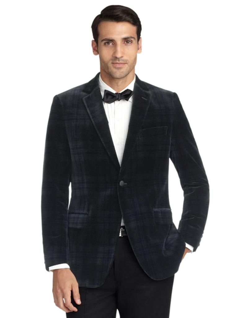 Brooks Brothers black velvet jacket