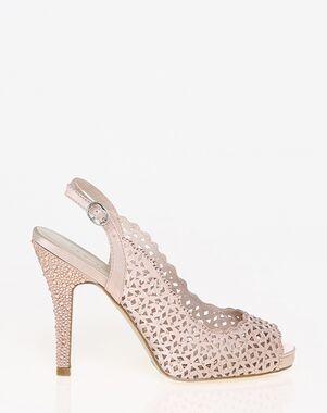 LE CHÂTEAU Wedding Boutique SHOES_351622_653 Black, Pink, Silver, White Shoe
