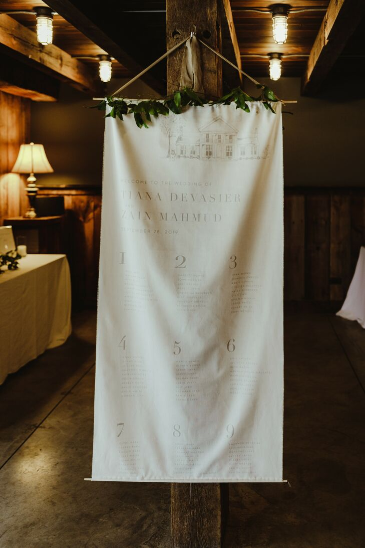 Fabric Sign for Dexter, Michigan, Wedding
