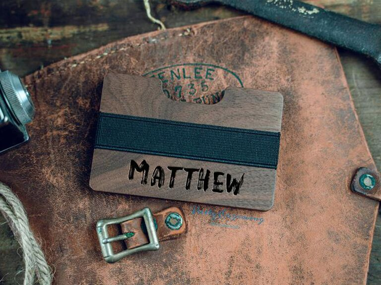 personalized wooden wallet