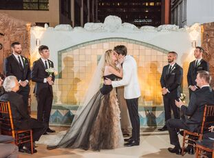 Nothing about Katherine Canipe (31 and an actor) and Alec Wells's (30 and works in TV production) wedding day was traditional. Instead, like Katherine