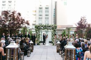 Chuppah at Outdoor Rooftop Ceremony