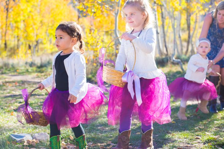 Purple Tulle Tutu Flower Girl Attire