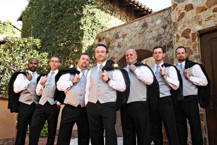 Black Vera Wang Groomsmen Tuxedos
