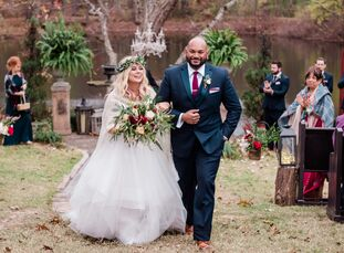 With the Little Rock Lantern Festival as their inspiration, Ashleigh McGee and Shankar Kathiresan pulled off a whimsical fall fete filled with rich sh